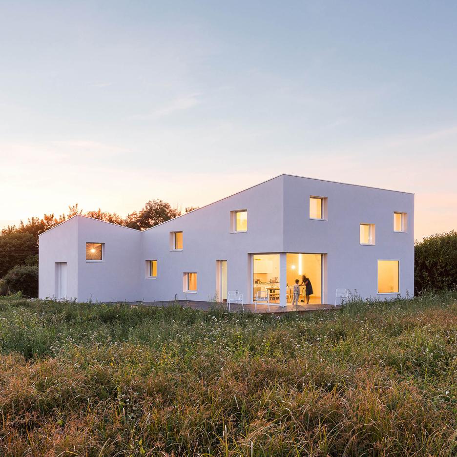 House Square Window - Square windows puncture alireza razavi s monolithic house for a photographer in brittany